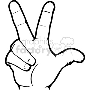 3 hand clipart vector black and white library ASL sign language 3 clipart illustration . Royalty-free clipart # 391654 vector black and white library