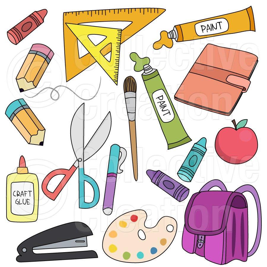 School items clipart 3 » Clipart Portal svg library