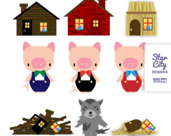 Free 3 Little Pigs Clipart, Download Free Clip Art, Free Clip Art on ... jpg black and white stock