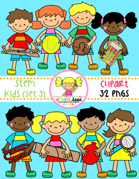 STEM Kids Clipart {Set 3} picture black and white download