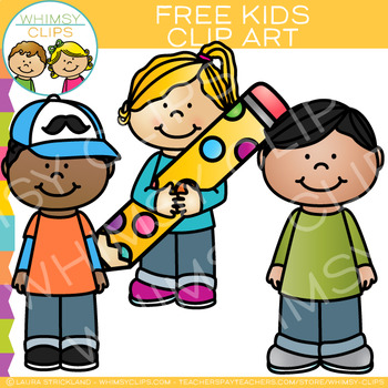 3 kids clipart graphic transparent Free Kids Clip Art graphic transparent