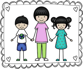 3 kids standing clipart picture free download Kids Clipart - My Family Clip Art Set 3 picture free download