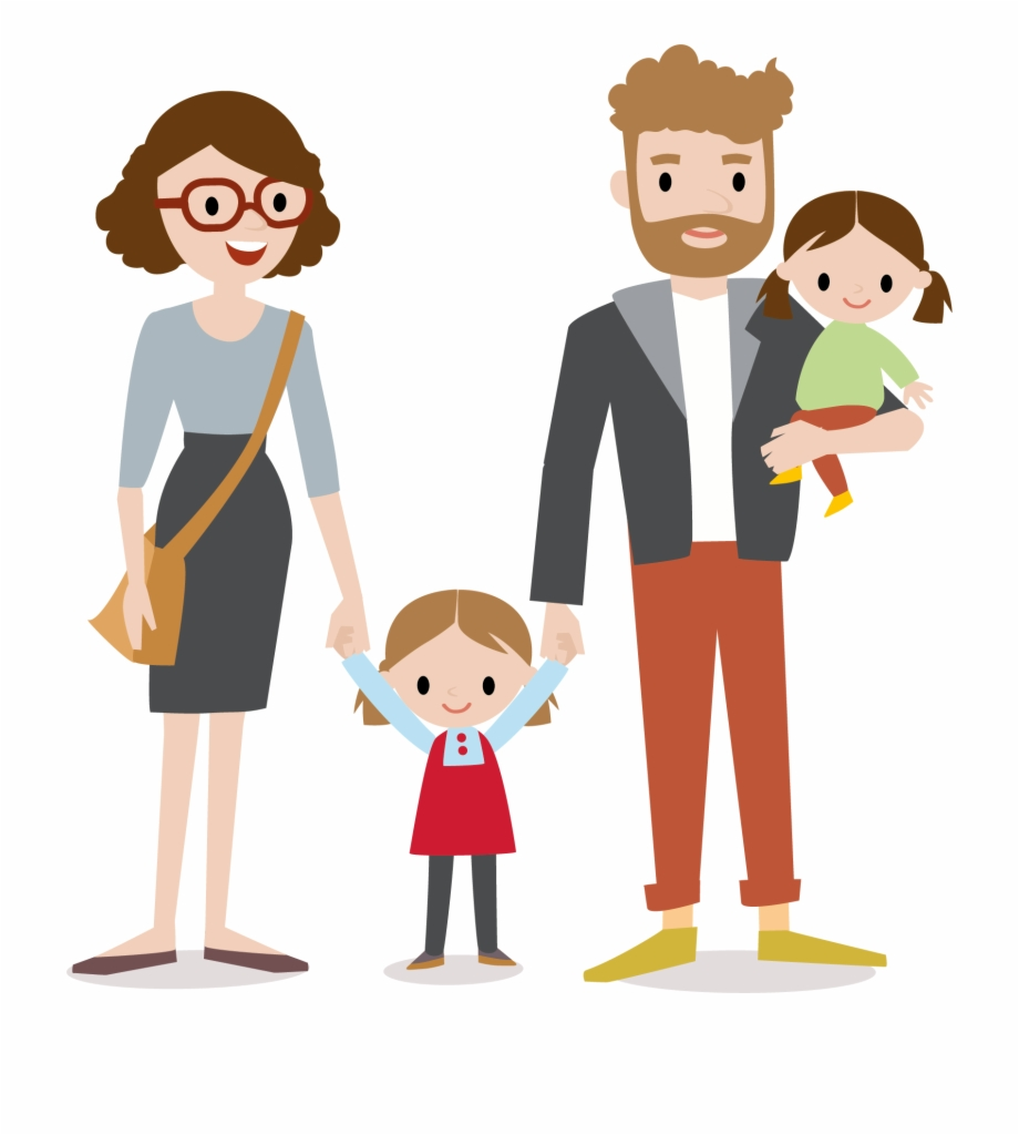 Clipart of parents and child