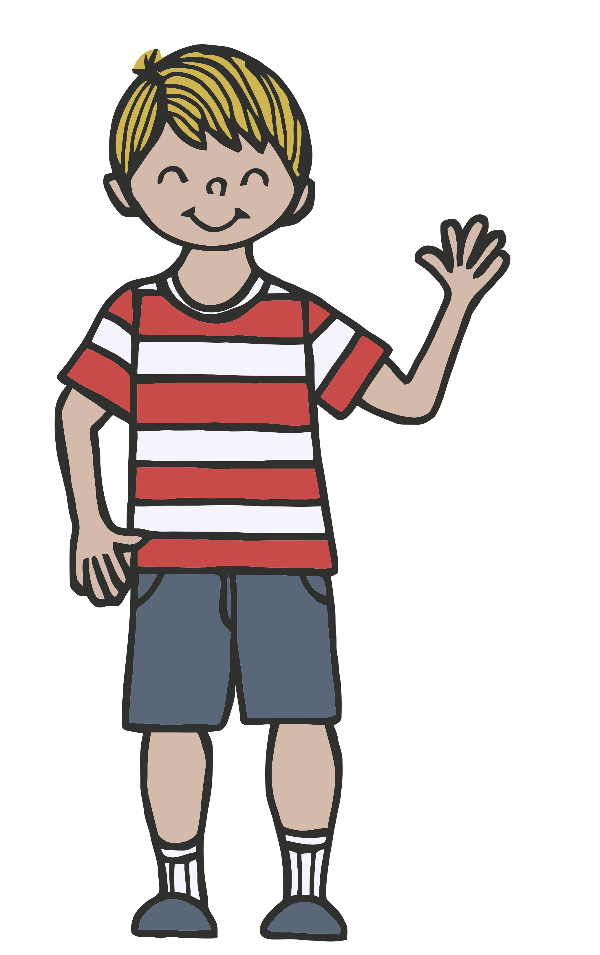 Kid waving bye black and white clipart graphic free stock Child waving goodbye clipart – Gclipart.com graphic free stock