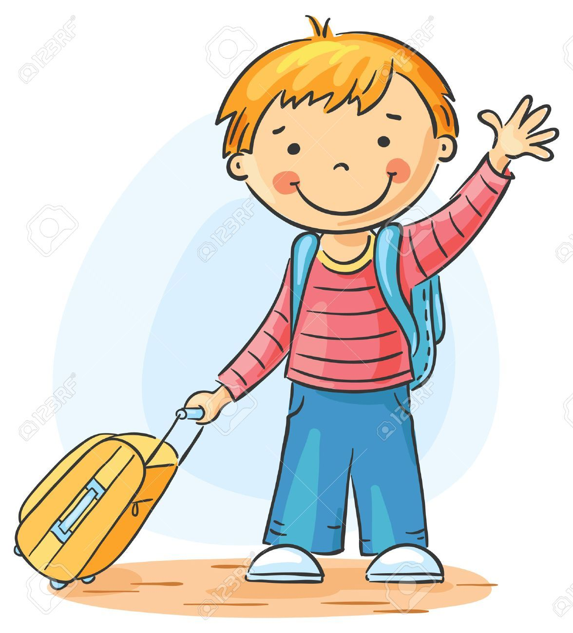 Clipart child waving bye