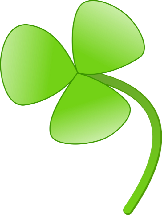 3 leaf clovers clipart png black and white library Clipart of Shamrocks and Four Leaf Clovers png black and white library