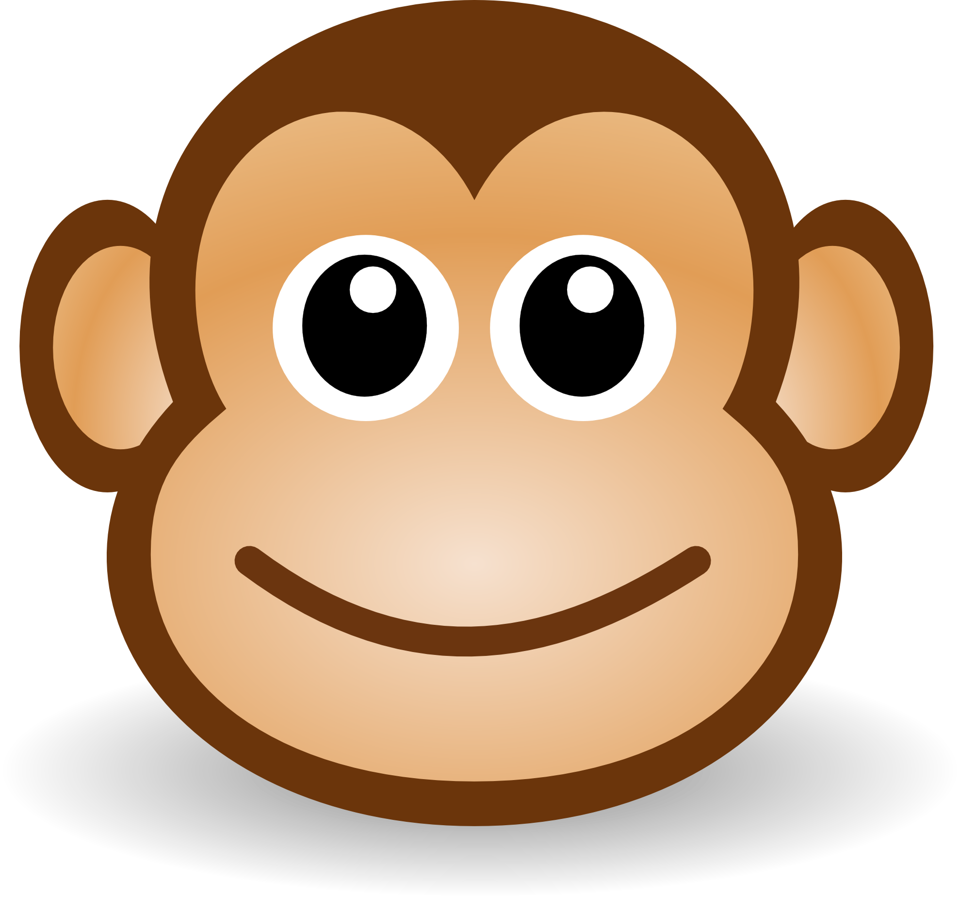 3 monkeys clipart faces svg black and white download Free Sad Monkey Face, Download Free Clip Art, Free Clip Art on ... svg black and white download