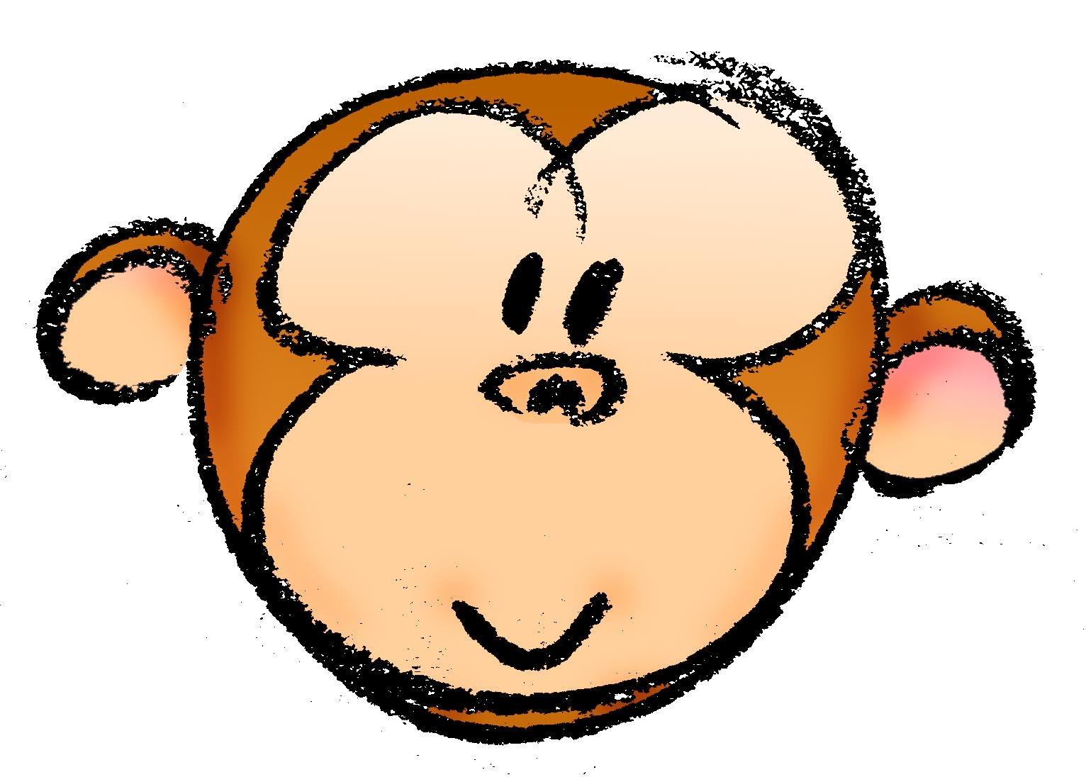 3 monkeys clipart faces banner transparent download How to Draw a Cartoon Monkey Face: 14 Steps (with Pictures) banner transparent download