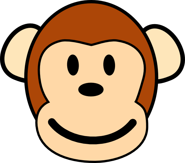 3 monkeys clipart faces clipart stock Happy Monkey Clip Art at Clker.com - vector clip art online, royalty ... clipart stock