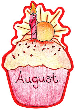 3 month birthday clipart image transparent library August Birthday Clip Art Created with care by Mrs - Clip Art Library image transparent library