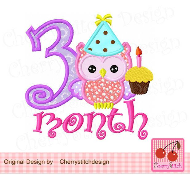 3 month birthday clipart clip art free Baby owl with 3 months,Baby owl,Birthday owl with number 3,Girly owl ... clip art free