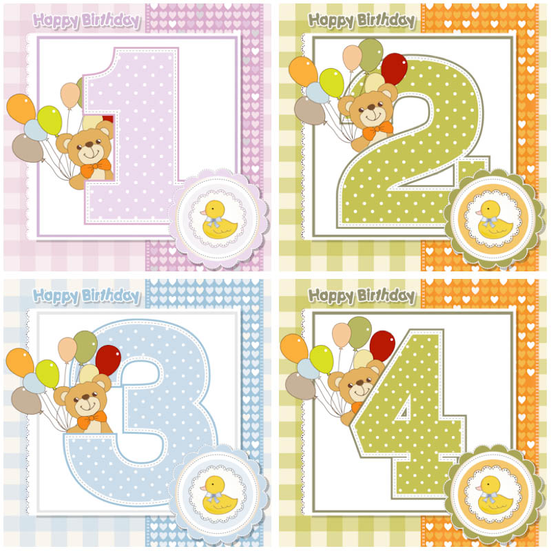 Birthday card clipart for 1 year old