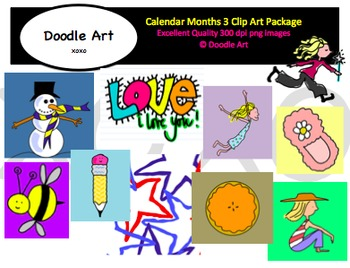 3 months clipart svg freeuse library Calendar Months 3 Clipart Pack svg freeuse library