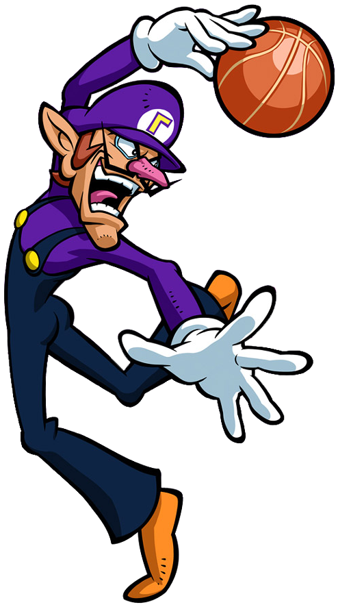 3 on 3 basketball clipart clip transparent download Image - Waluigi Artwork - Mario Hoops 3-on-3.png | Nintendo | FANDOM ... clip transparent download