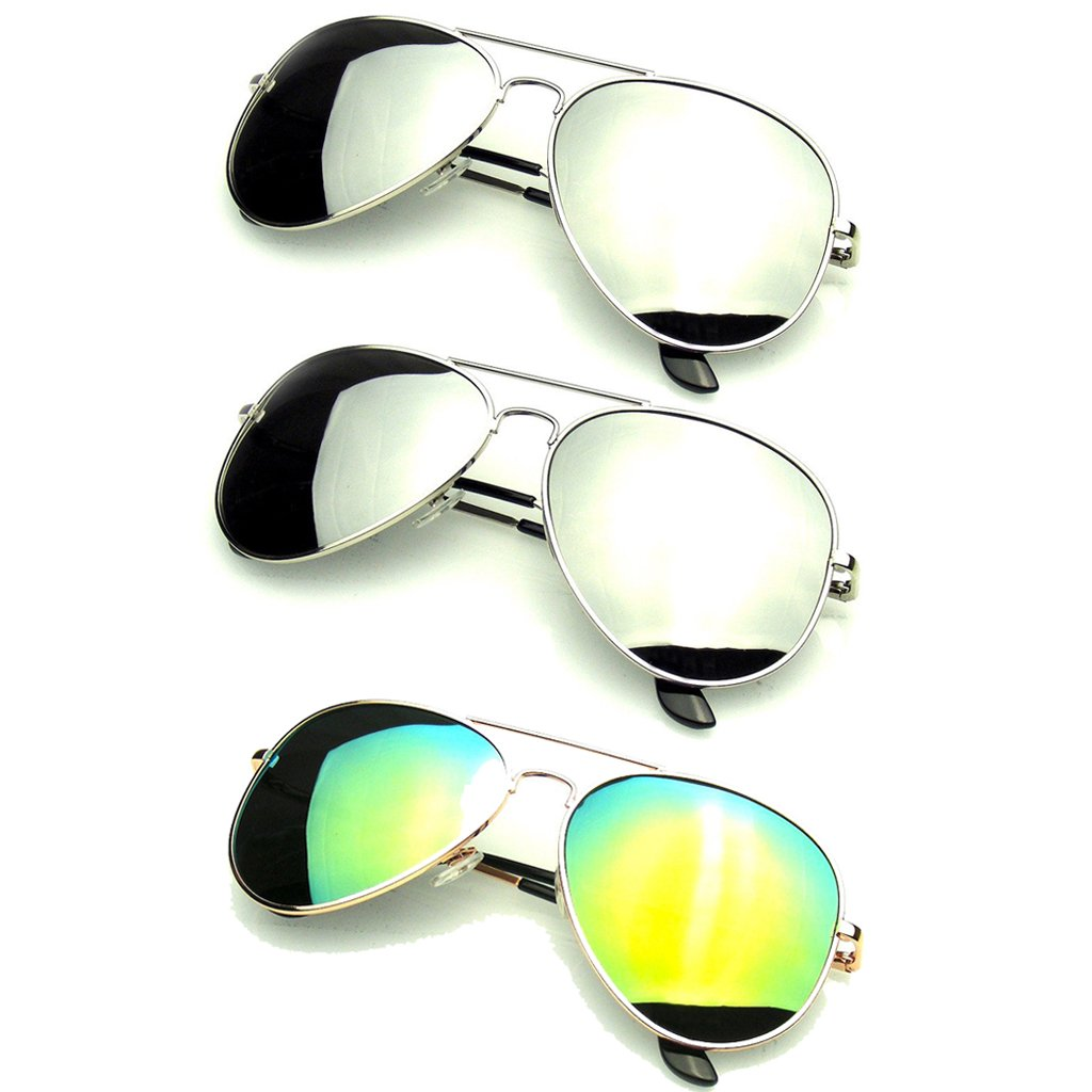 Bundle Of Sunglasses Bundles 3 Pairs Silver Gold Mens Womens Sun Glasses  EE06 picture royalty free