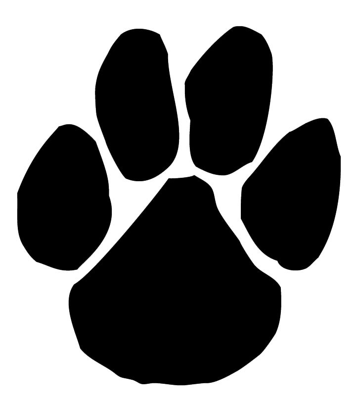 Mascot images black panthers. Free clipart panther paw