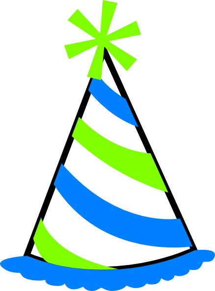 3 party hat clipart svg library Green And Blue Party Hat Clip Art at Clker.com - vector clip art ... svg library
