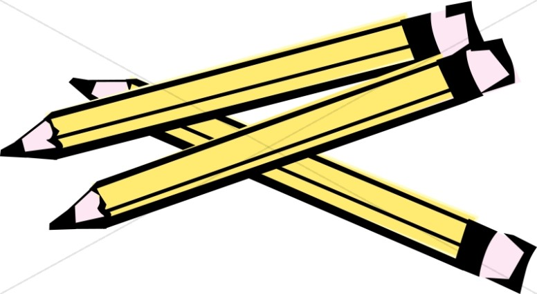Three Wooden Pencils | Christian Classroom Clipart jpg free library