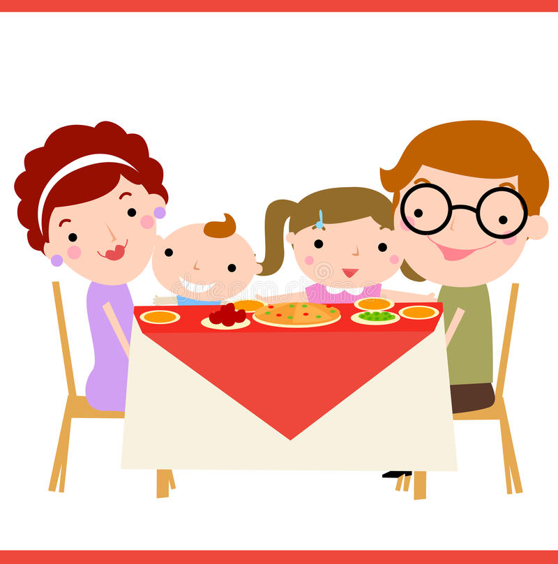 3 person dinner time clipart image royalty free library Dinner Time Cliparts - Making-The-Web.com image royalty free library