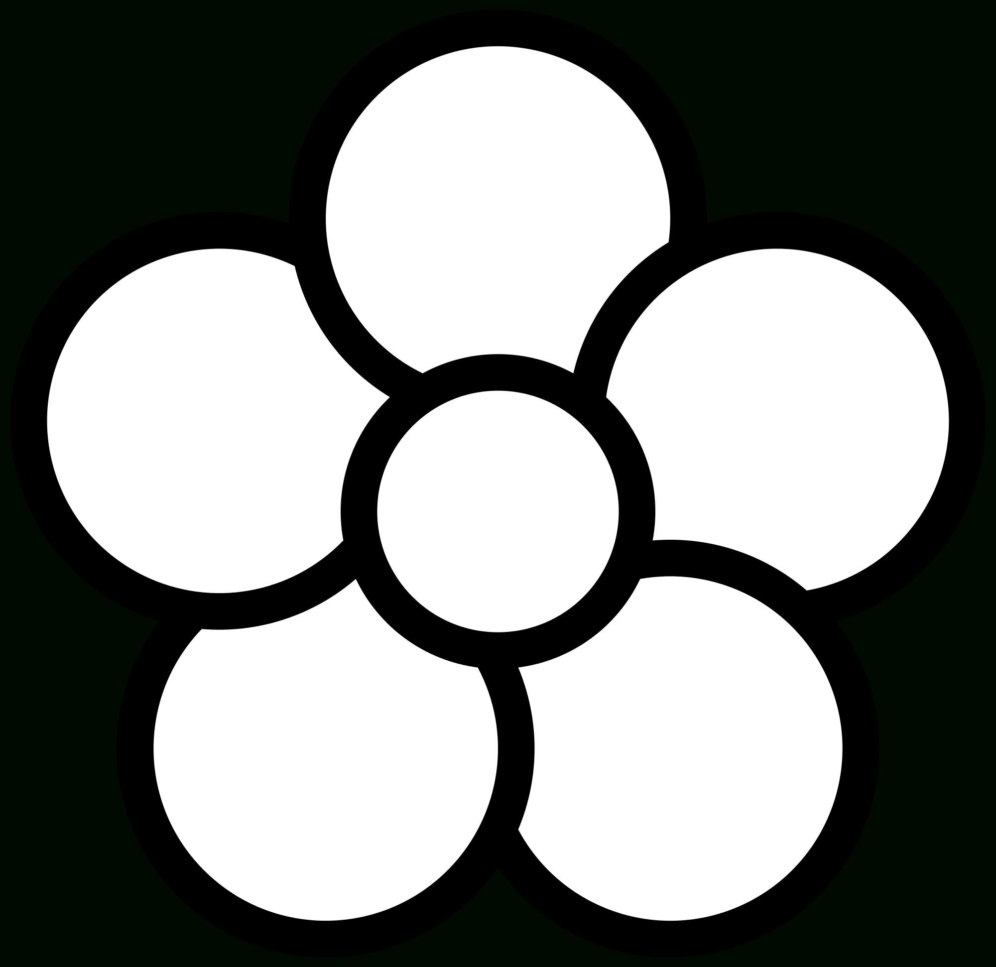 Lacalabaza filefivepetal iconwhitesvg wikimedia. Five petal flower clipart