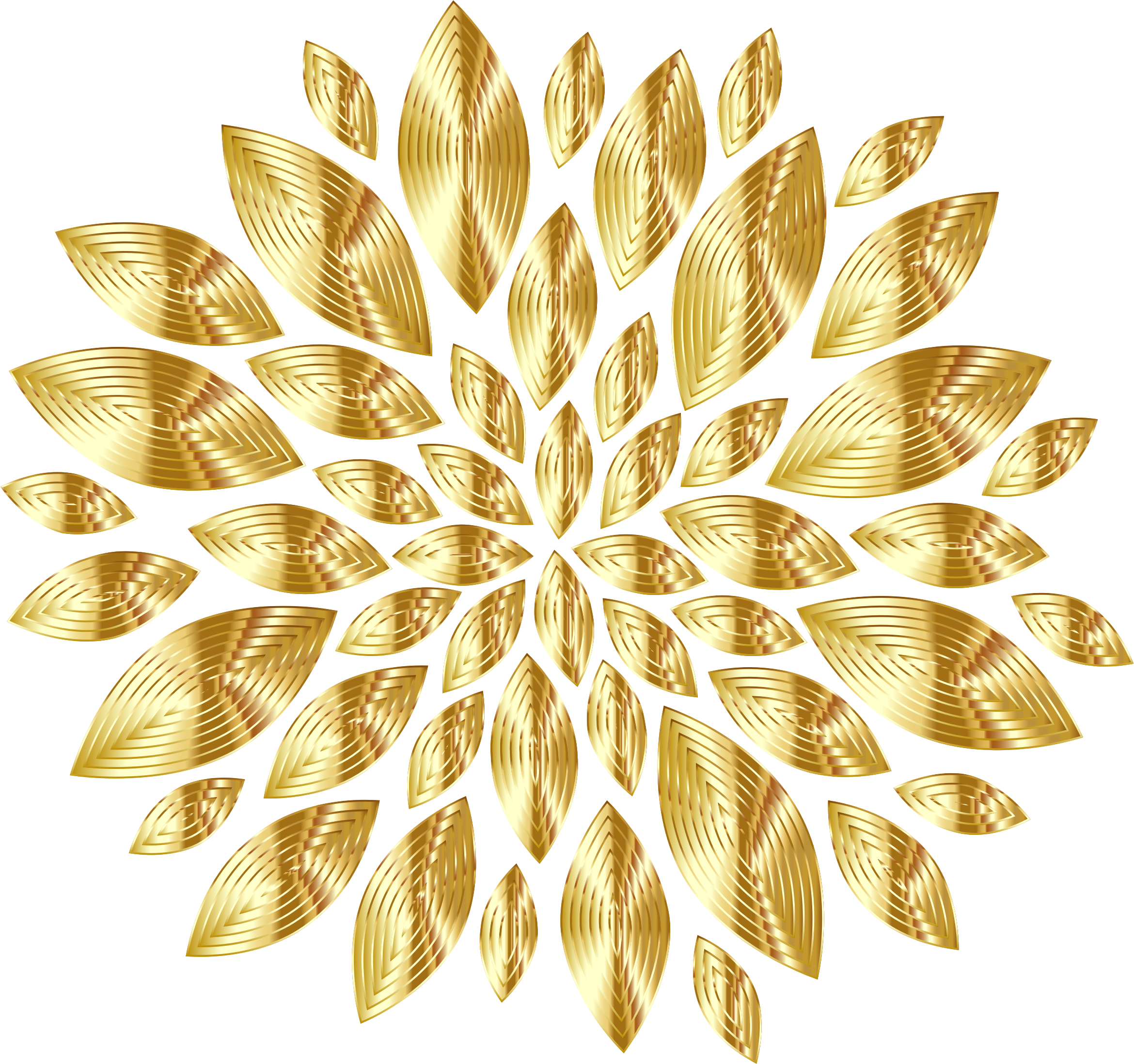 3 petal flower clipart picture black and white stock Clipart - Gold Flower Petals Variation 3 picture black and white stock