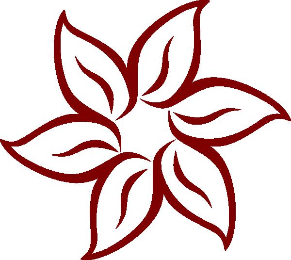 3 petal flower clipart picture Maroon Flower Clip Art at Clker.com - vector clip art online ... picture