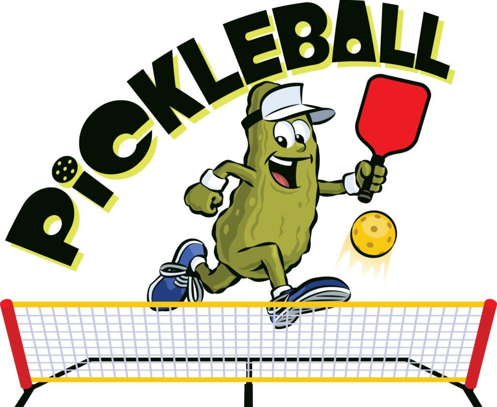 Pickleball sport court logo clipart high res