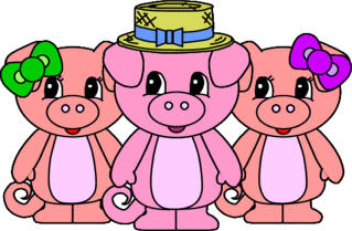 3 pigs clipart banner library Free Three Little Pigs, Download Free Clip Art, Free Clip Art on ... banner library