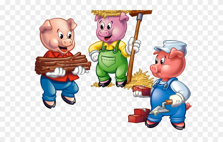 3 pigs clipart jpg free library Love Wood Clipart Pig - 3 Little Pigs Clipart - Png Download ... jpg free library