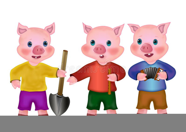 3 pigs clipart graphic freeuse library Three Little Pig Clipart   Free Images at Clker.com - vector clip ... graphic freeuse library