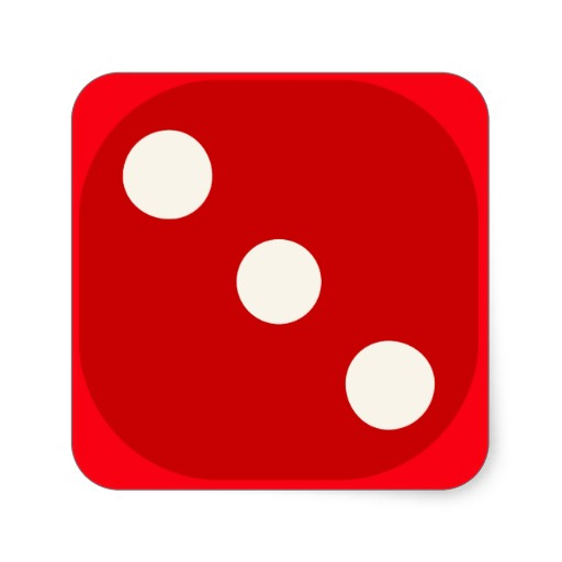 3 red dice clipart picture freeuse library Red Dice Die Roll Three Square   Clipart Panda - Free Clipart Images picture freeuse library