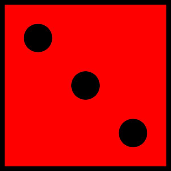 3 red dice clipart transparent download Red Die 3 Clip Art at Clker.com - vector clip art online, royalty ... transparent download