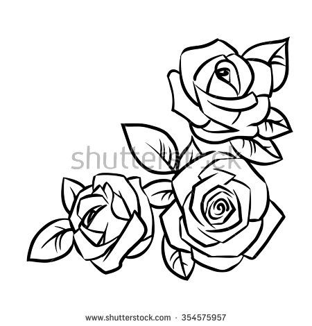 3 rose clipart svg transparent 3 roses lineart - 15 linearts for free coloring on theivrgroup.org 2019 svg transparent