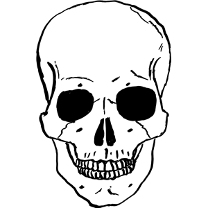 3 skull clipart graphic black and white download skull clipart 3 300x300 | Clipart Panda - Free Clipart Images graphic black and white download