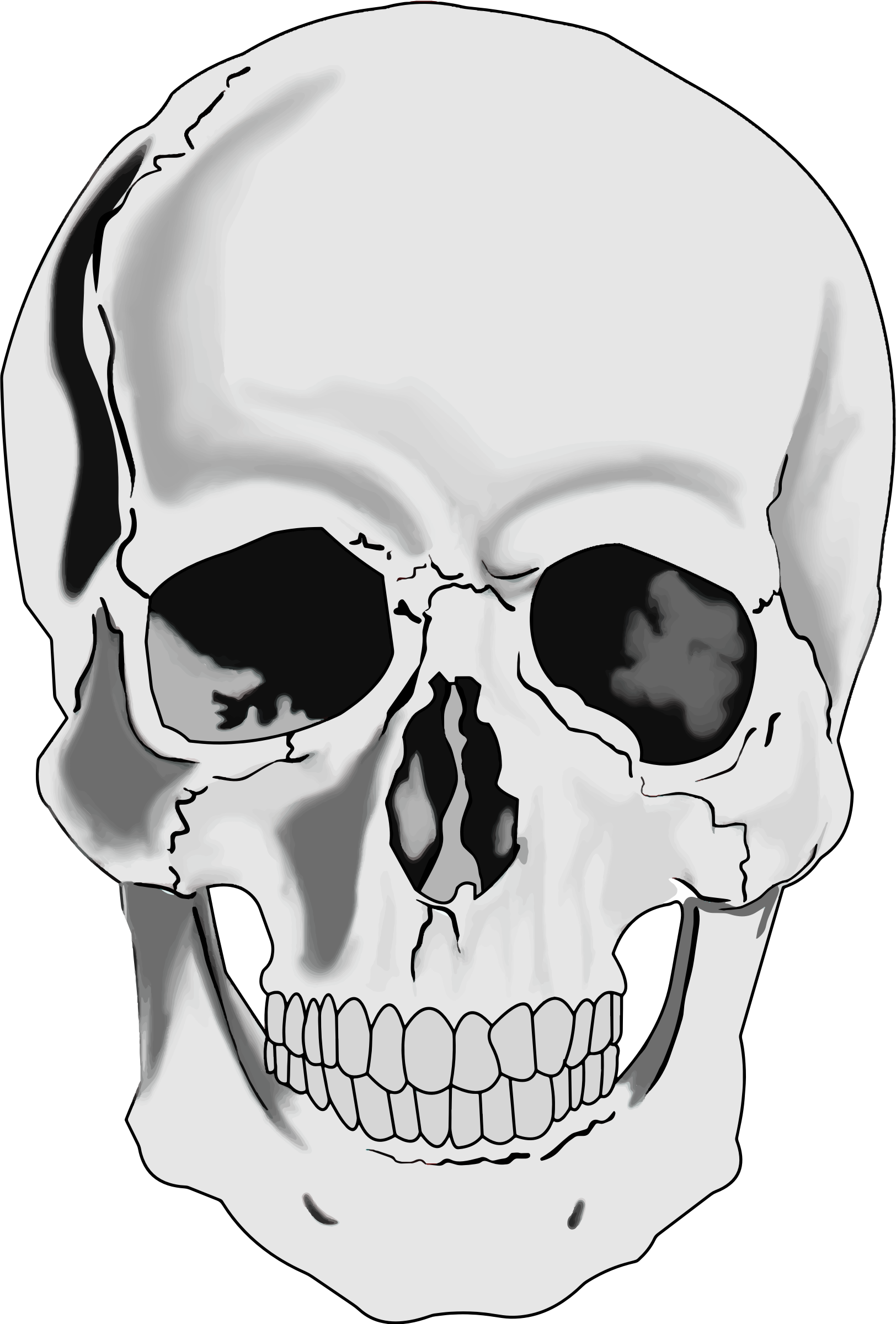 3 skulls clipart graphic library library Skull clipart images 3 » Clipart Station graphic library library