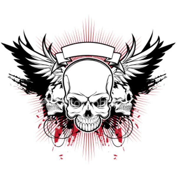 3 skulls clipart jpg stock Ist Three Skull Wings | Free Images at Clker.com - vector clip art ... jpg stock