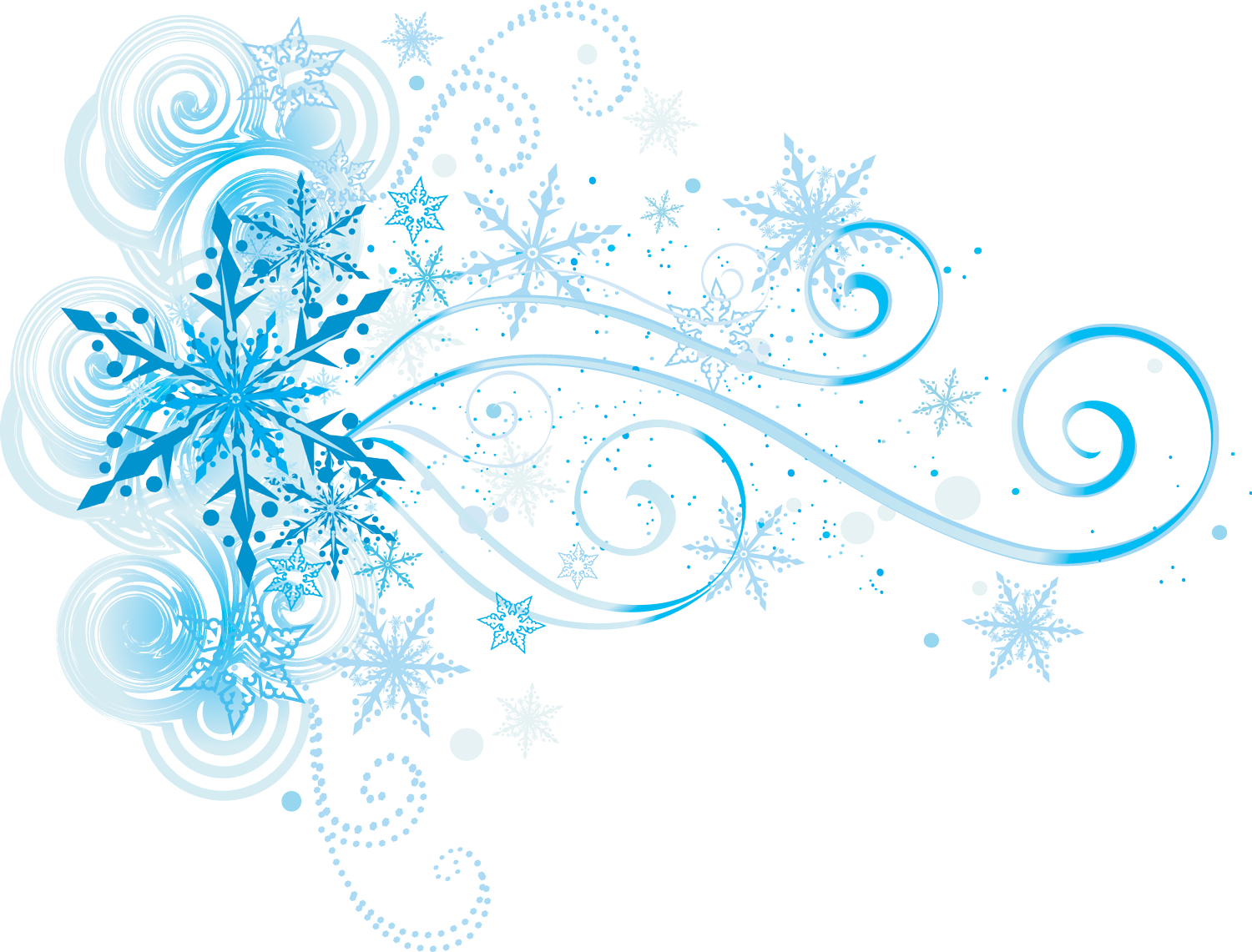 Snowflake black white corner clipart banner free library wrap around the shoulder with ribbons flowing down the arm ... banner free library