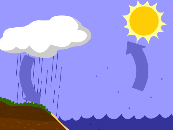 3 stages of water cycle label clipart image Water Cycle - BrainPOP image