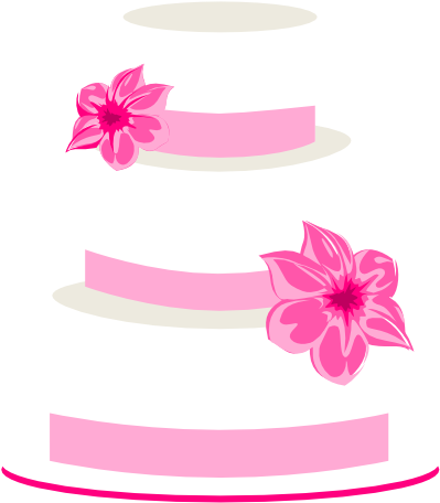 Pink Wedding Cake Clip Art - 3 Tiered Cake Clip Art , Transparent ... image library download