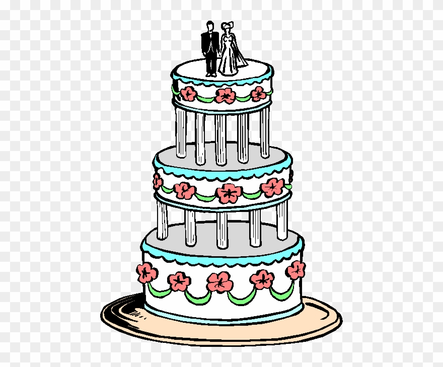 Two tiered cake clipart black graphic library Picture Free Library 3 Tier Cake Clipart - Wedding Cake Clipart ... graphic library