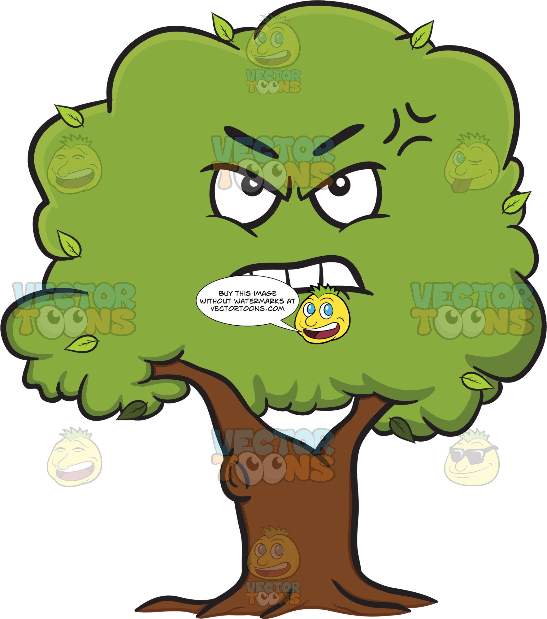 3 trees connected by roots clipart graphic free library Bruised And Mad Leafy Tree Emoji graphic free library