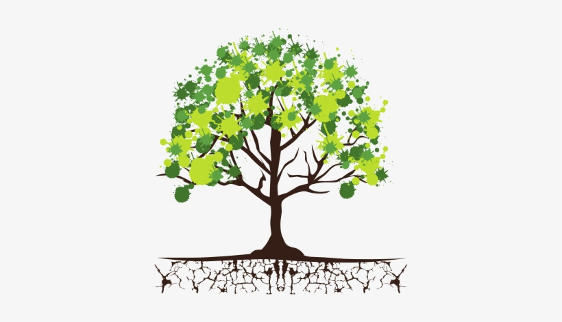 3 trees connected by roots clipart clip library library Roots Clipart Tree Icon - Tree With Roots And Leaves - 550x550 PNG ... clip library library