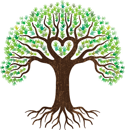 3 trees connected by roots clipart black and white library Free Transparent Tree With Heart Roots, Download Free Clip Art, Free ... black and white library