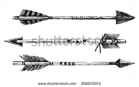 Indian stock images royalty. 3 tribal arrow clipart