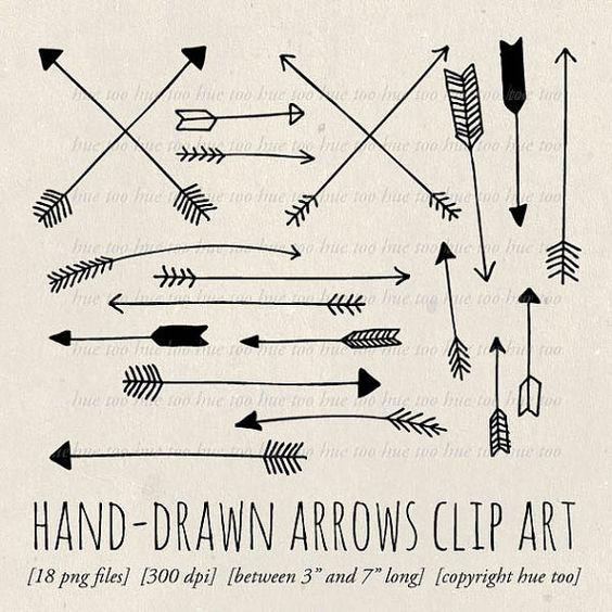 3 tribal arrow clipart svg freeuse Arrows clip art, tribal arrow clipart, archery hand drawn arrows ... svg freeuse