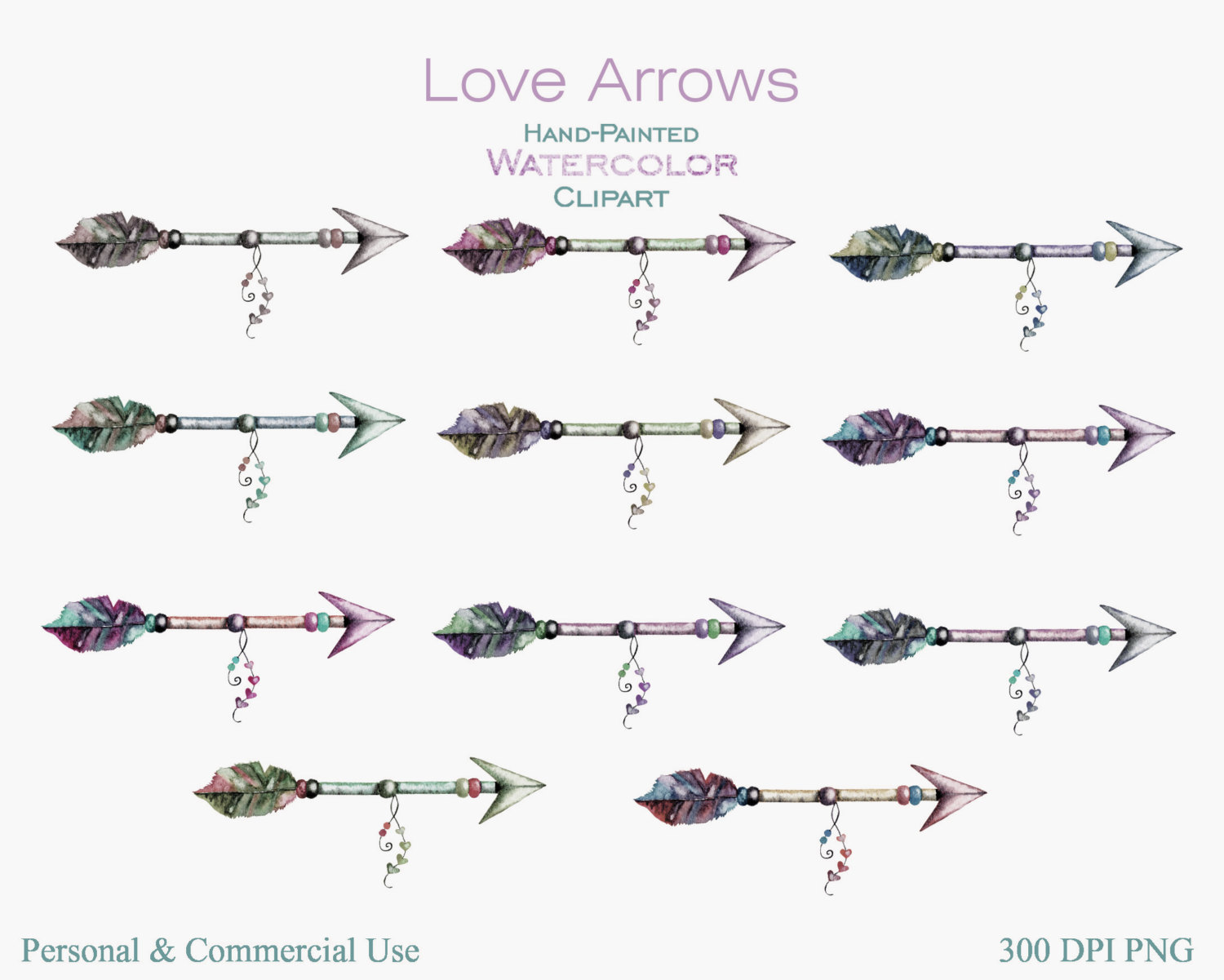 3 tribal arrow clipart graphic library WATERCOLOR ARROWS Clipart Commercial Use Clipart 11 Arrow Graphics ... graphic library