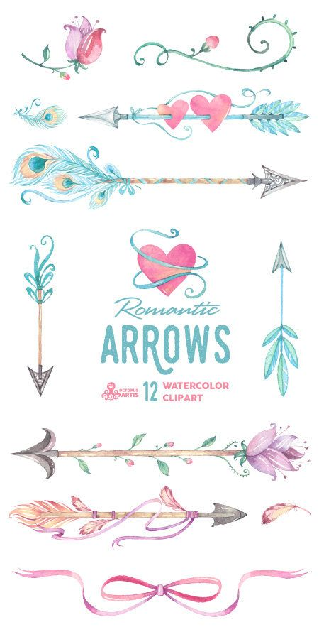 Arrow with 3 hanging feathers clipart - ClipartFest vector royalty free stock