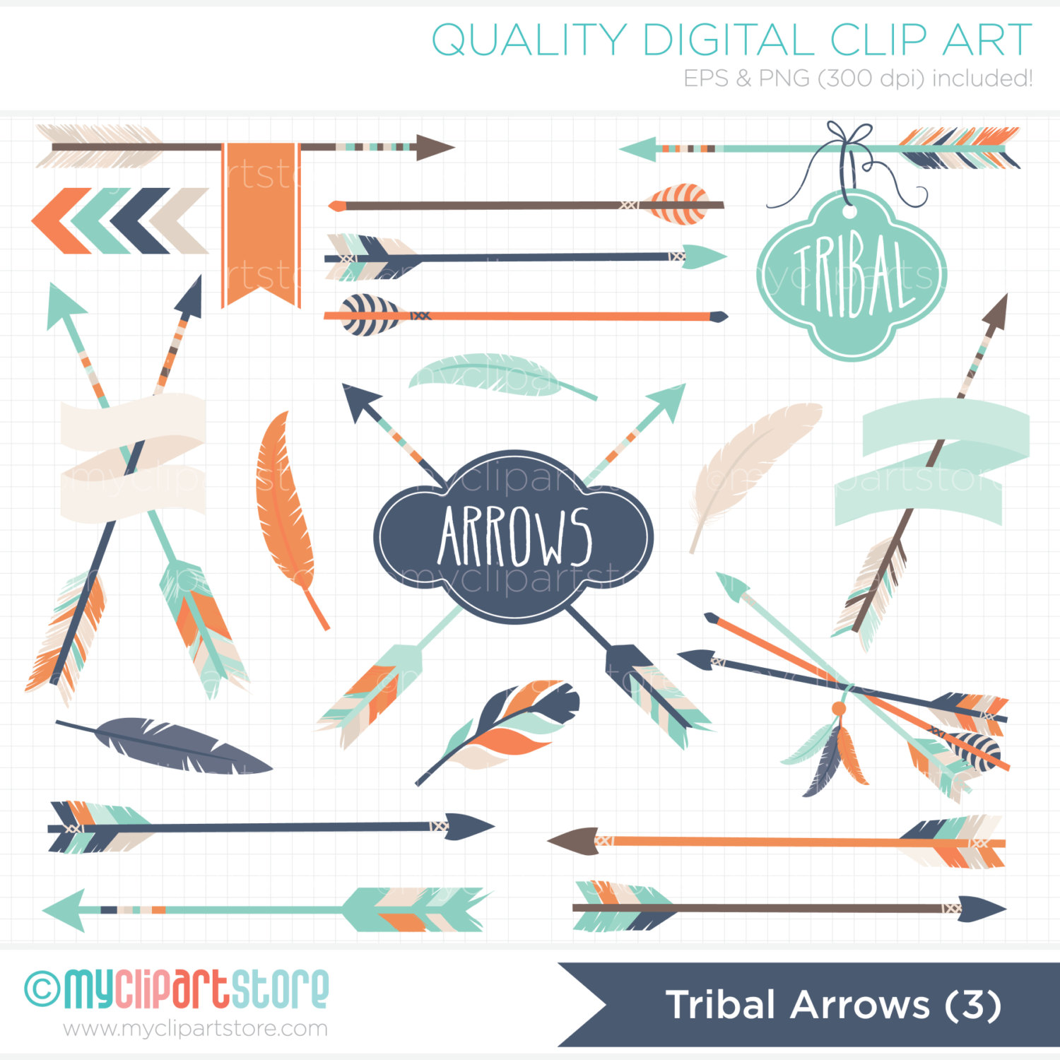 3 tribal arrow clipart clipart free library Clipart Tribal Arrows 3 / American Indian Digital Clip clipart free library