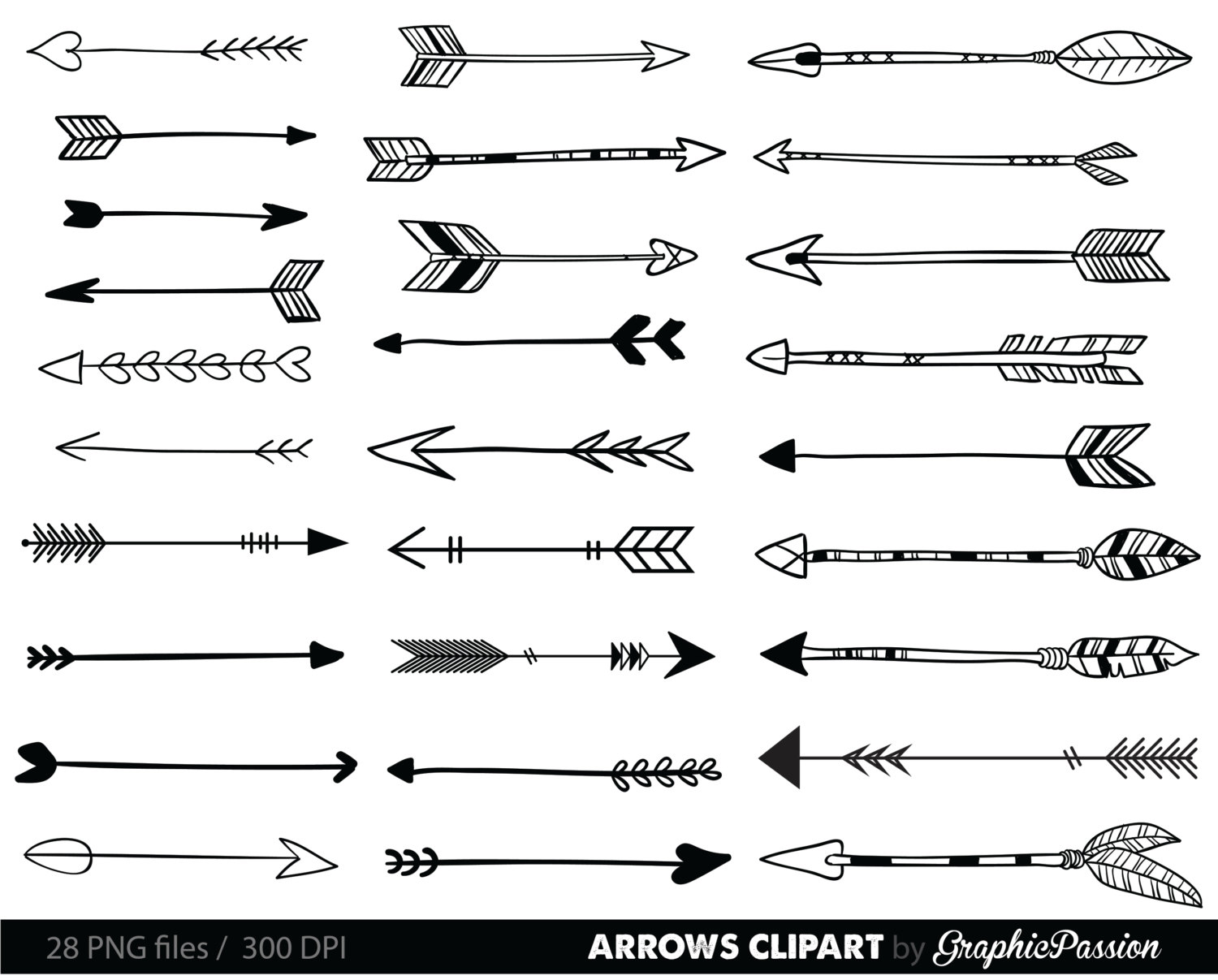 3 tribal arrow clipart.  best ideas about