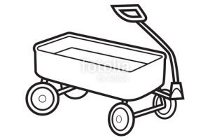 Red wagon clipart black and white 1 » Clipart Portal image library library